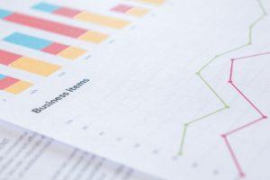 Closeup of analytics data