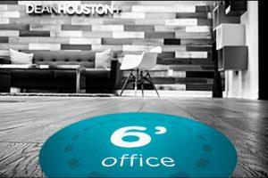 floor signage in office